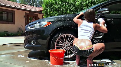Car, Heels, Shorts, Washing