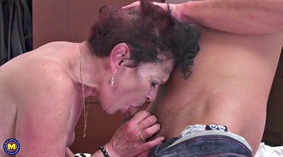 Mature boy, Granny boy, Cum mouth