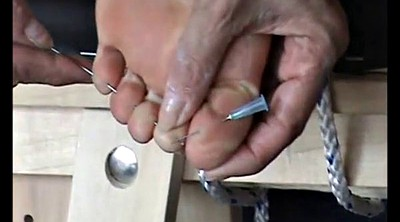 Needle, Mature feet, Mature foot, Mature bondage, Needles, Bondage foot