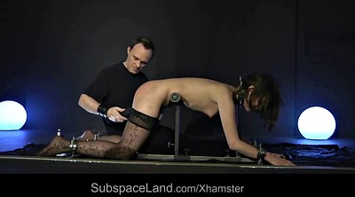 Spank, Blindfold, Teen slave, Cum in throat