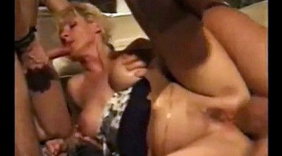 Mature double penetration, German milf