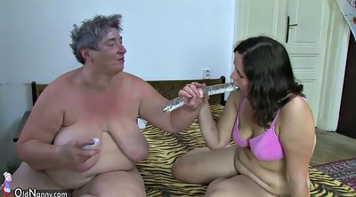 Old and young, Granny threesome, Bbw group, Old couple, Bbw dildo, Old and young threesome