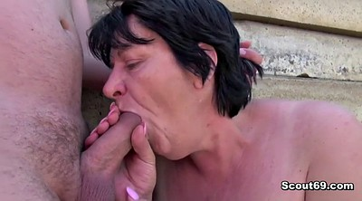 Old and young, German granny, Bbw mom