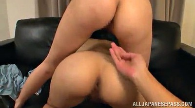 Hairy threesome, Asian big cock