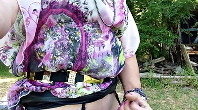 Amateur outdoor, Crossdress