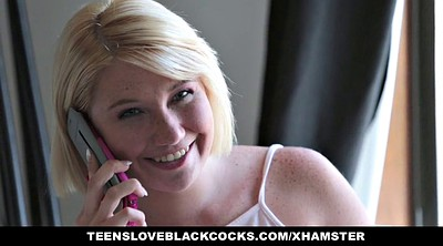 Blonde teen interracial