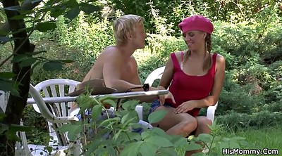 Mature lesbian, Lesbian old young, Granny outdoor