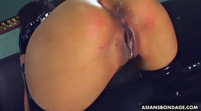 Latex, Japanese bdsm, Pee in ass, Japanese orgasm, Creampie licking