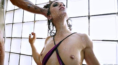 Julia, Milking, Big milk, Bbw shower