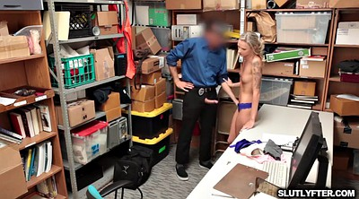 Police, Emma, From behind, Offices, Fuck from behind