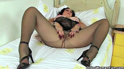 British mature, Granny nylon