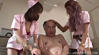Asian granny, Nurse, Asian old, Old handjob