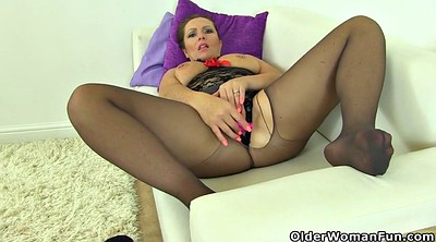 Mature pantyhose, Samantha