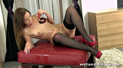 Black, Piss in, Black stocking