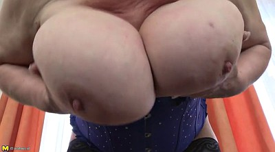 Hairy mature, Hairy granny, Huge tits