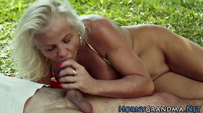 Granny anal, Mature outdoor