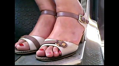 Bus, Mature feet, Closeup, Mature foot, Feet mature