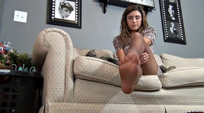 Foot tease, Pantyhose foot