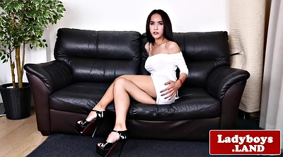 Ladyboy, Asian shemale, Asian masturbation
