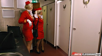 Toilet, Stewardess, Clothed