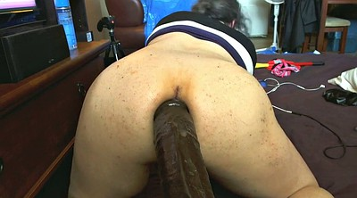 Bbc, Training, Big dildo, Anal training, Dildo ride