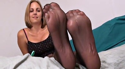 Footjob, Nylon feet, Nylon footjob, Ebony, Nylon foot, Nylons