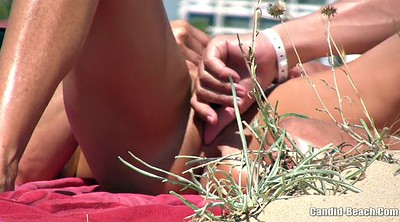 Beach, Nude beach, Voyeur beach couple, Public fingering, Public finger, Public couple