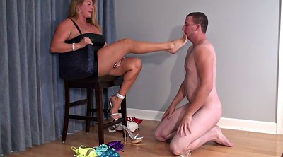 Slave, Mature feet, Foot slave, On her knees, Milf femdom, Mature cuckold