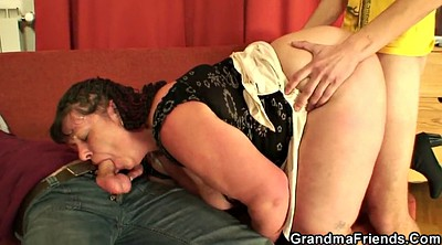 Mommy, Young cock, Plump mature