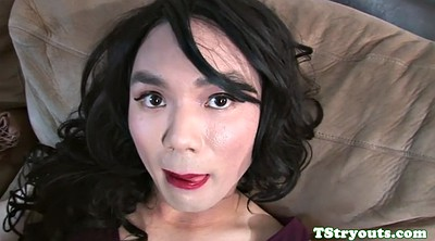 Asian ladyboy, Asian shemale solo