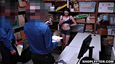 Shoplifter, Teen shoplifter, Shoplifting, Facial, Cops