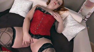 Stockings, Chubby redhead