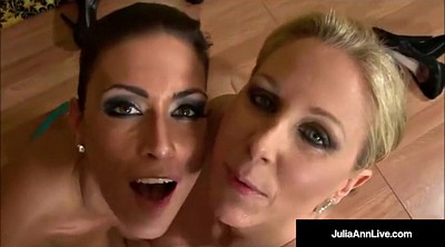 Julia ann, Cum kissing