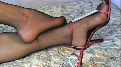 High heels, Foot stocking, Stockings foot, Stocking feet, Stocking heels, Stocking foot