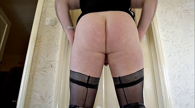 Crossdressers, Crossdressing, Pantyhose show, Solo stockings