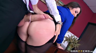 Upskirts, Pantyhose office, Boss spanking