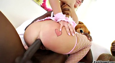 Ebony anal, Ruined, Fishnet