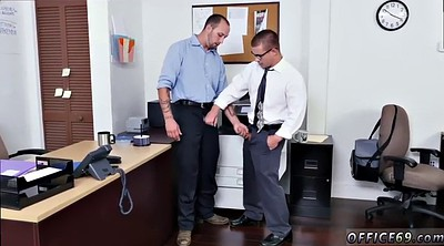 Gay office, Tease handjob