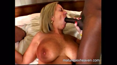 Granny threesome, Granny interracial, Cums