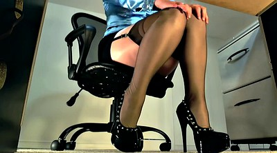 High heels, Stockings solo, High