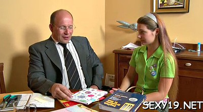 Small tits, Old teacher, Lesson