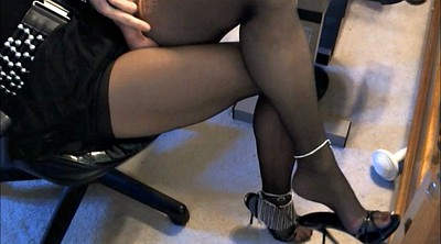 Nylon feet, Legs up, Crossdressers