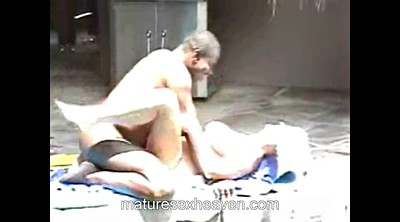 Swinger granny, Mature interracial