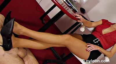 Pantyhose, Stocking, Footjob, Office, Stockings, Stockings footjob