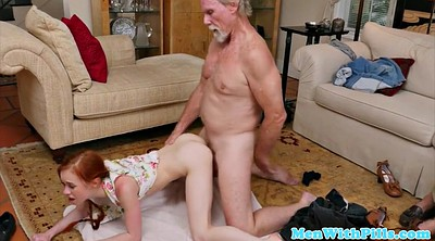 Cum in mouth, Teenage, Cumming, Grandfather