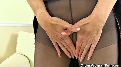 Mature pantyhose, English, British granny