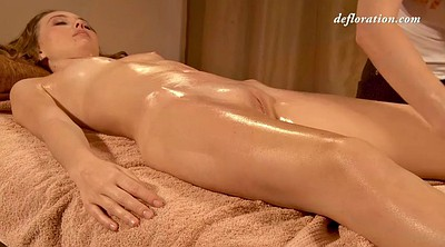 Oil massage, Russian lesbian, Close up lesbian