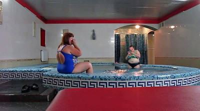 Sauna, Russian mature, Bbw pool, Russian bbw