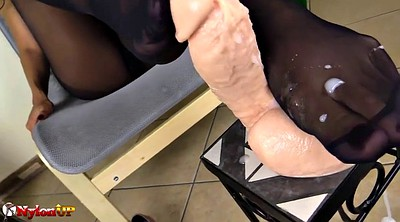 Pantyhose footjob, Footing, Mistress footjob
