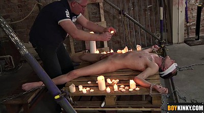 Nude, Twink, Blindfold, Gay bdsm, Chain